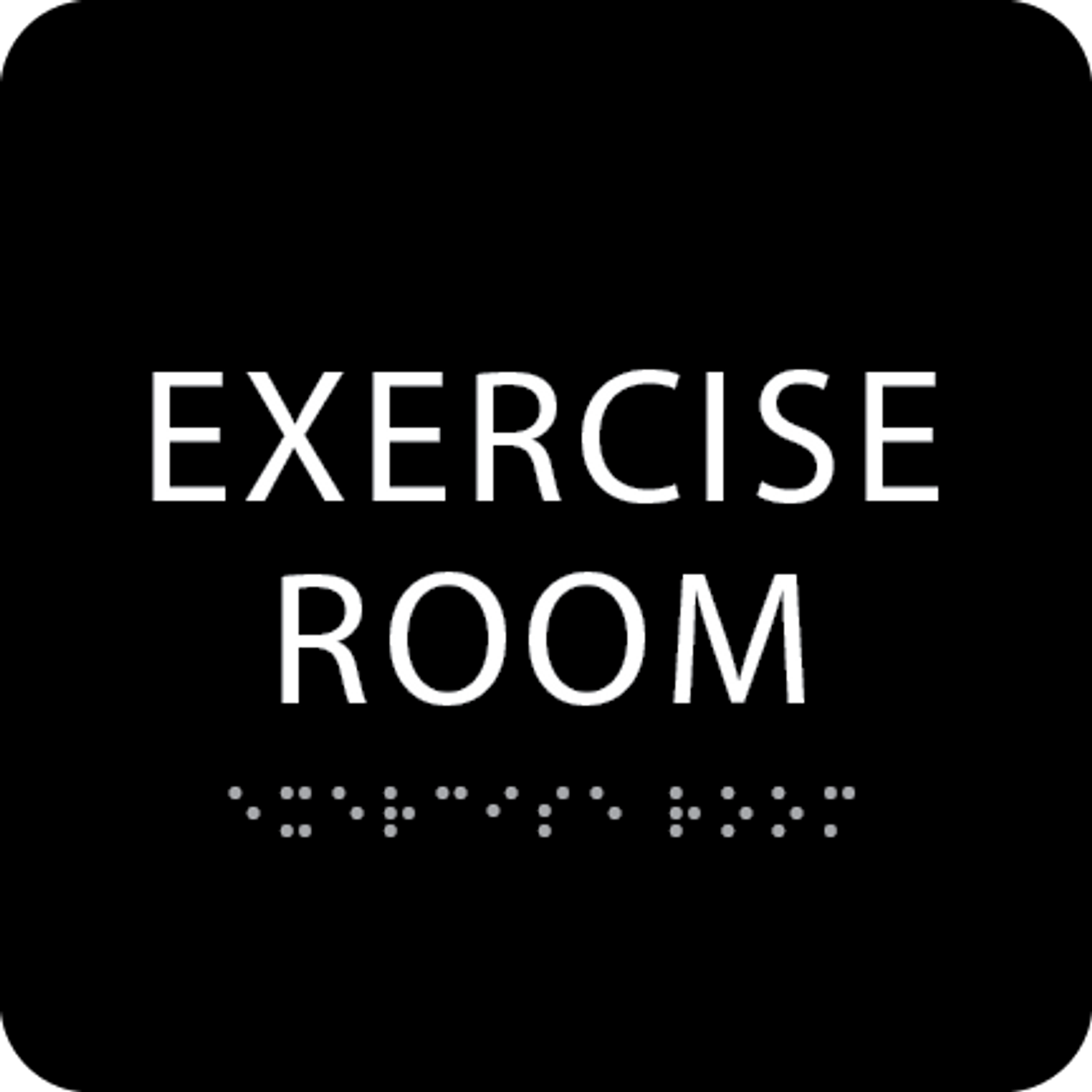 Black Exercise Room ADA Sign
