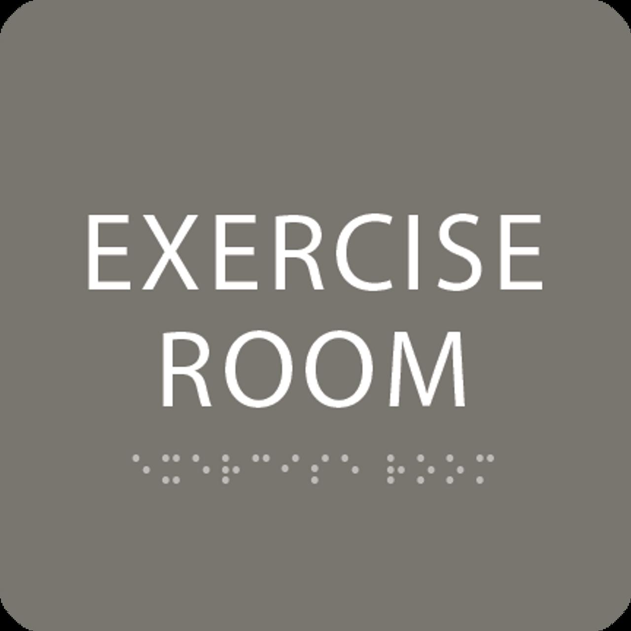 Dark Grey Exercise Room ADA Sign