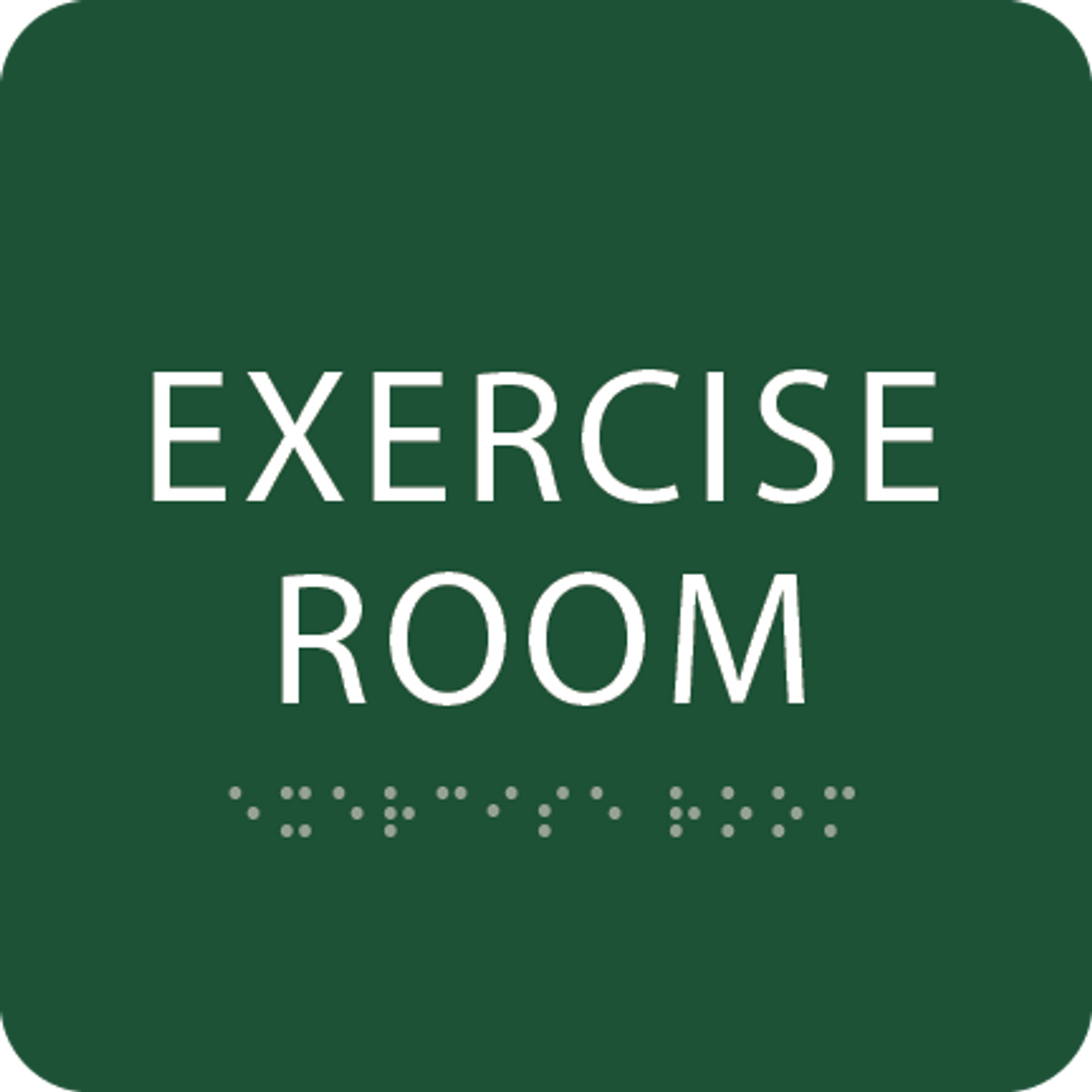 Green Exercise Room ADA Sign