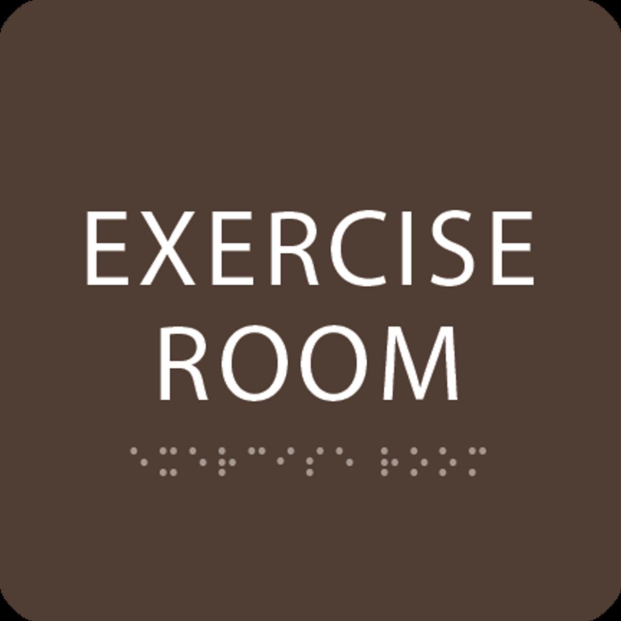 Dark Brown Exercise Room ADA Sign