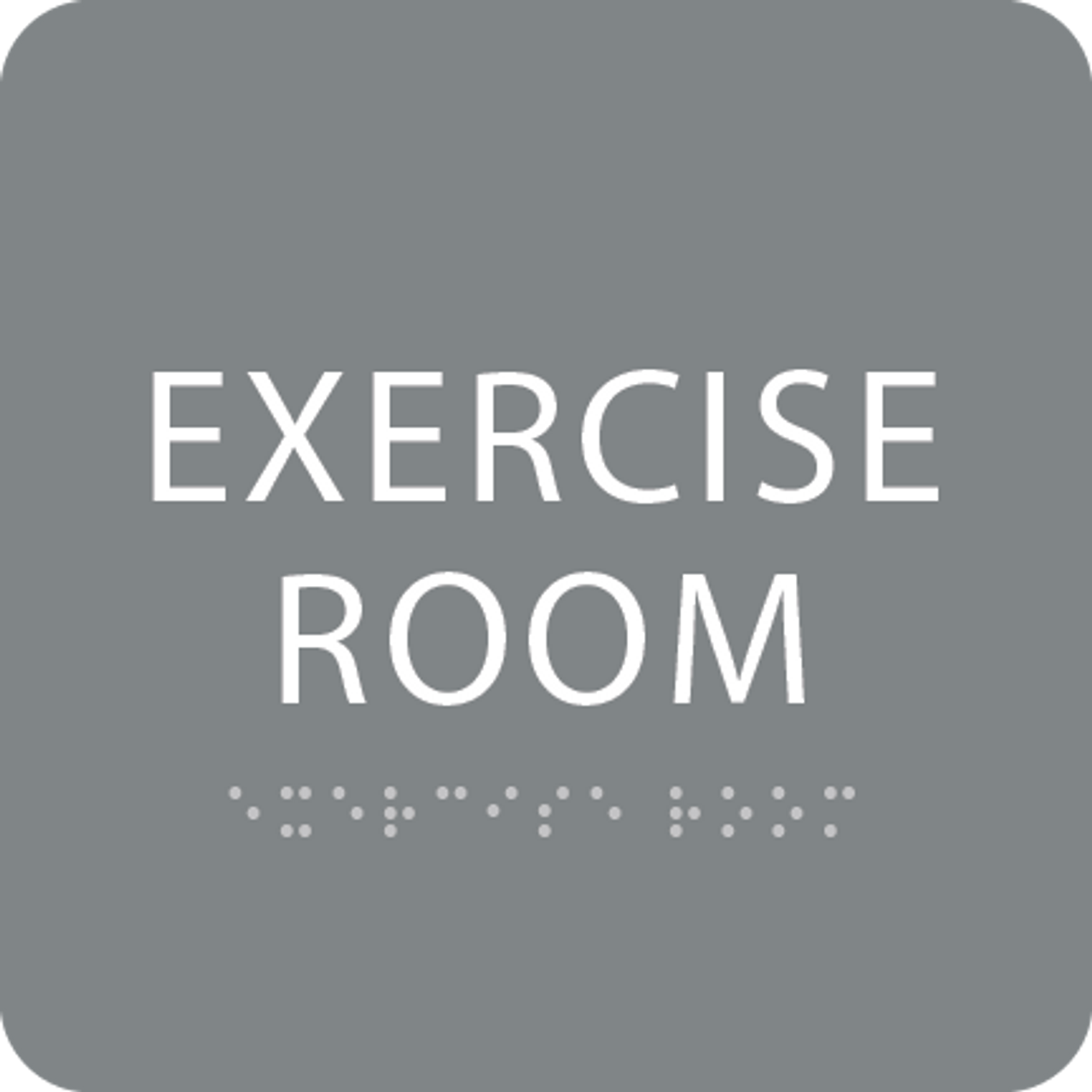 Grey Exercise Room ADA Sign