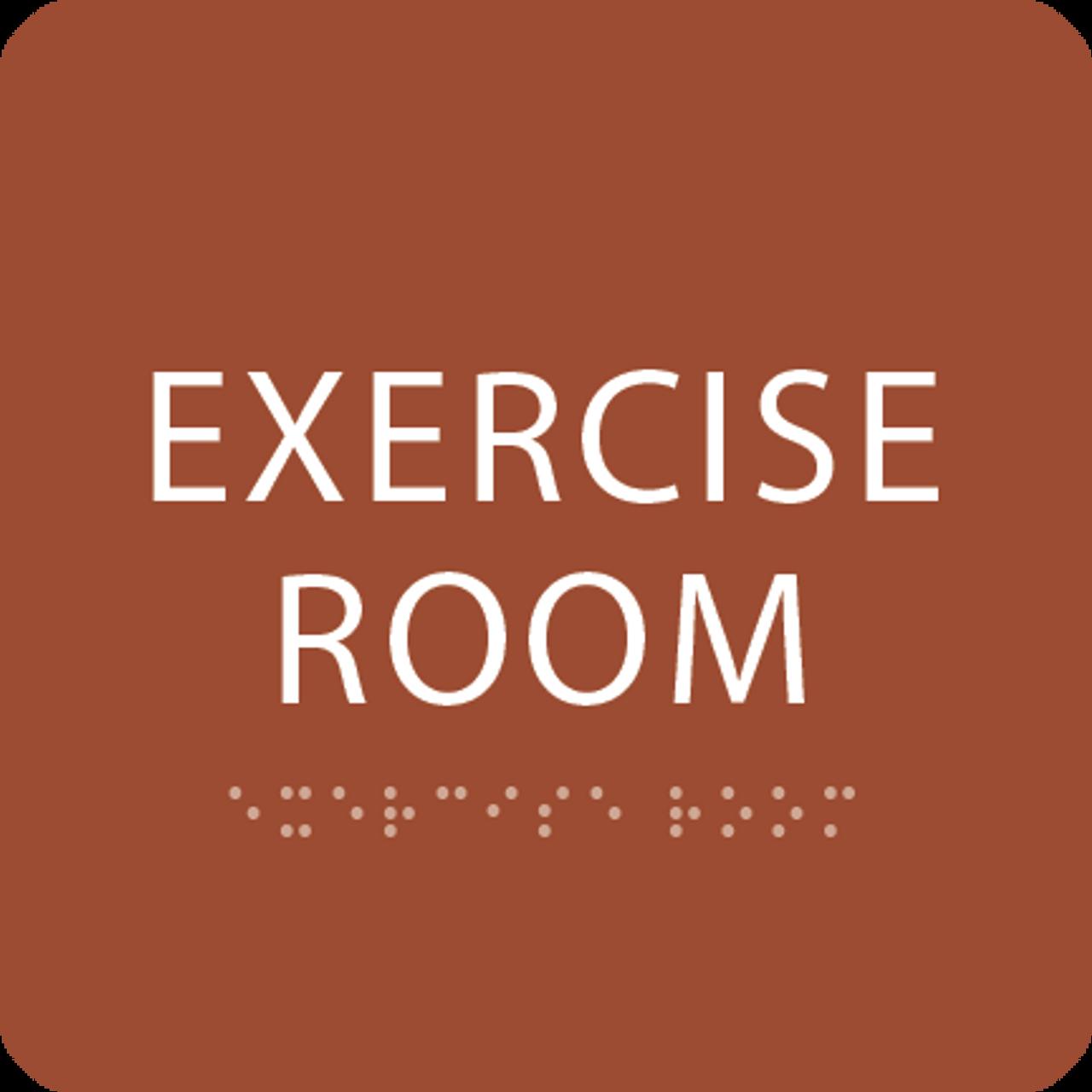 Orange Exercise Room ADA Sign