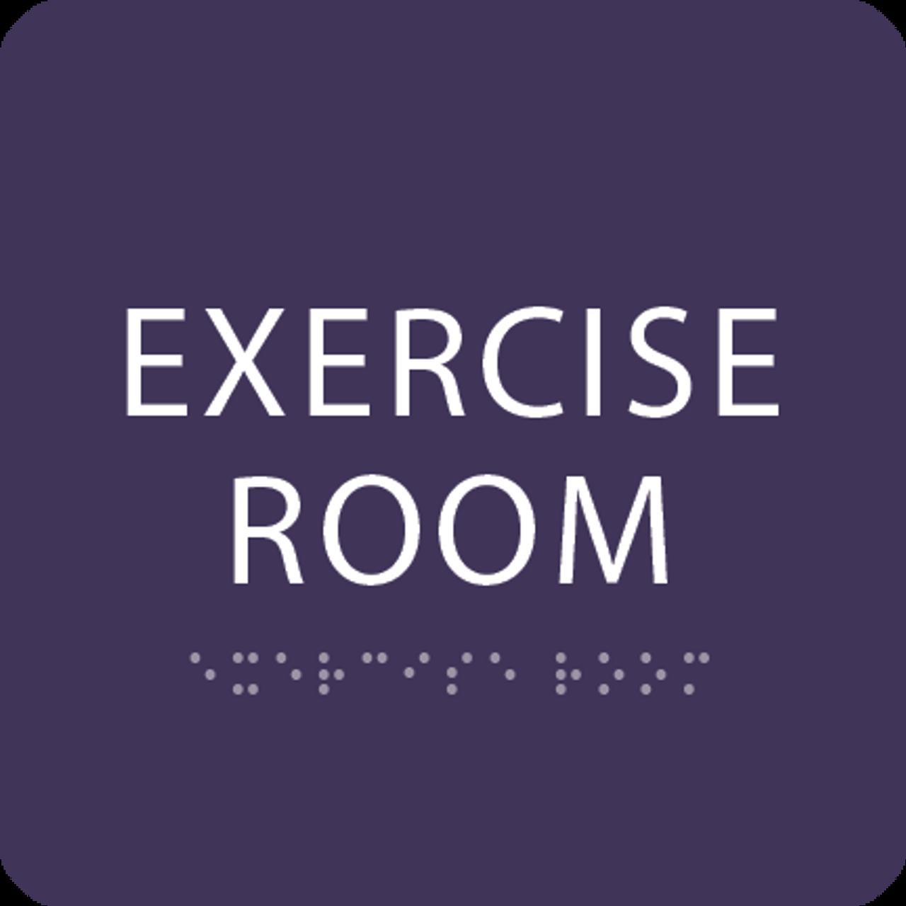 Purple  Exercise Room ADA Sign