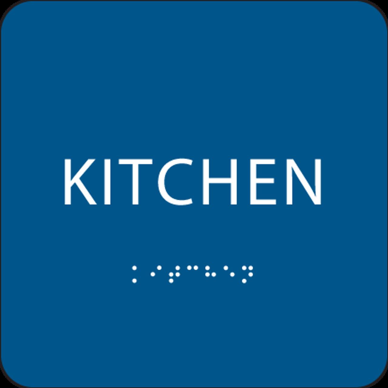 Blue ADA Kitchen Sign