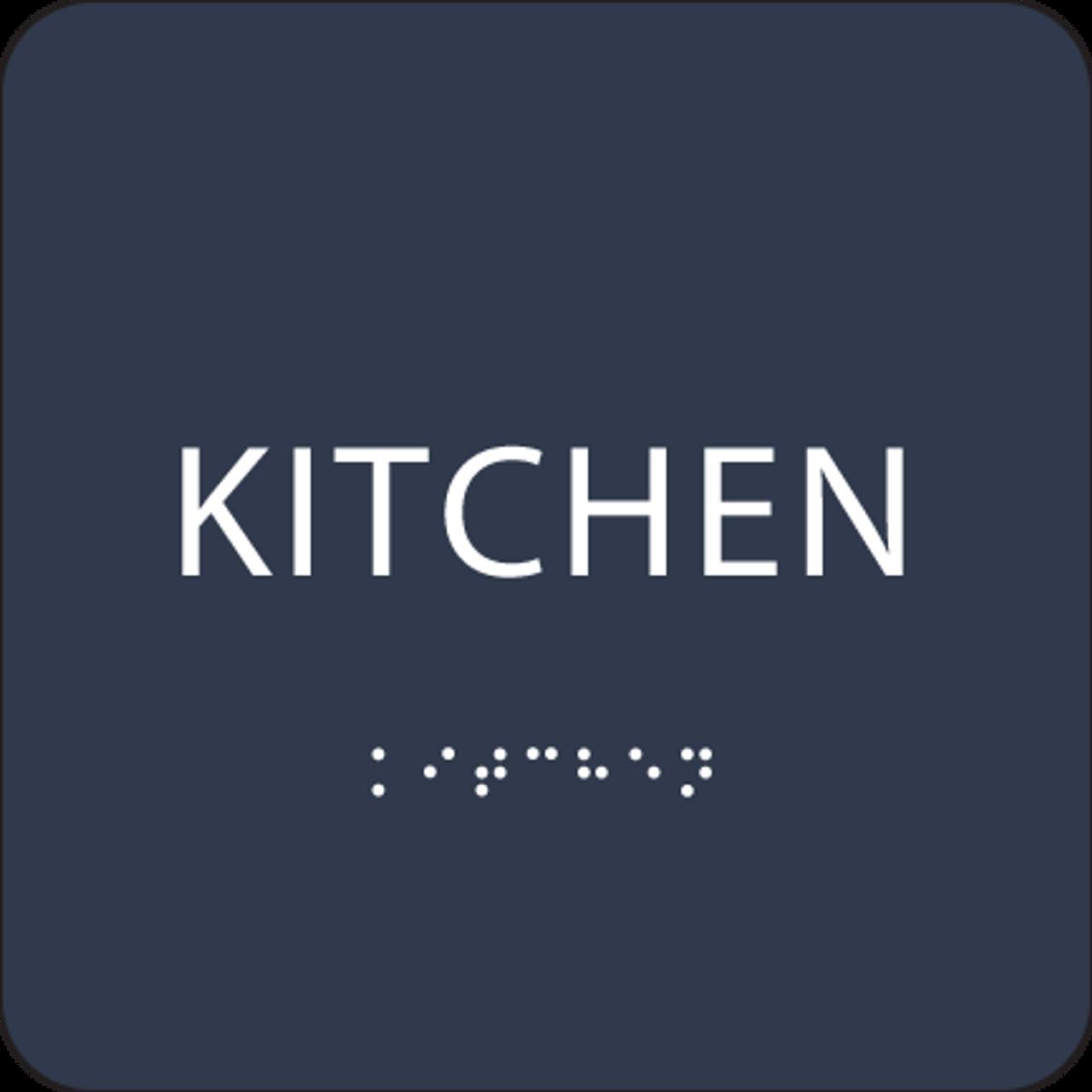 Blue Braille Kitchen Sign