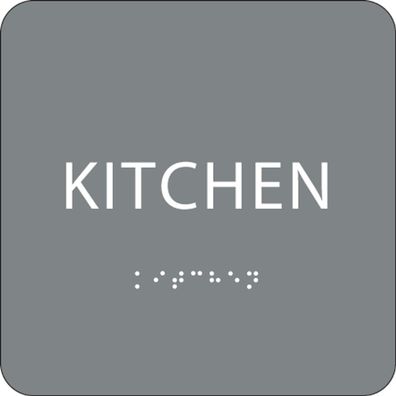 Grey ADA Kitchen Sign