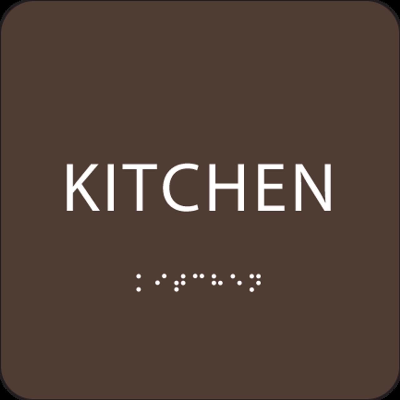 Dark Brown ADA Kitchen Sign
