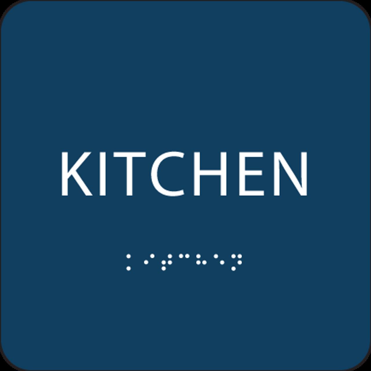 Blue Tactile Kitchen Sign