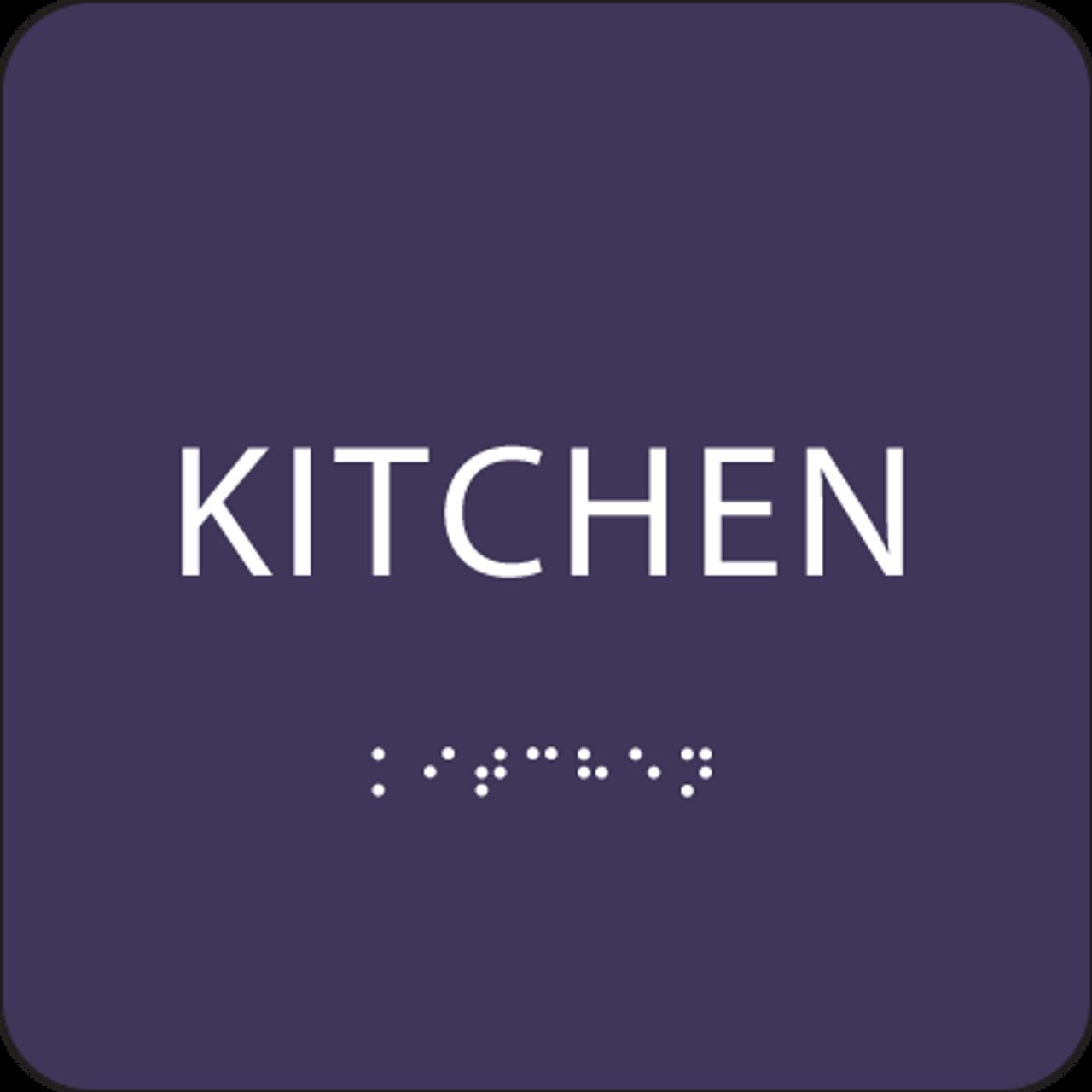 Purple ADA Kitchen Sign