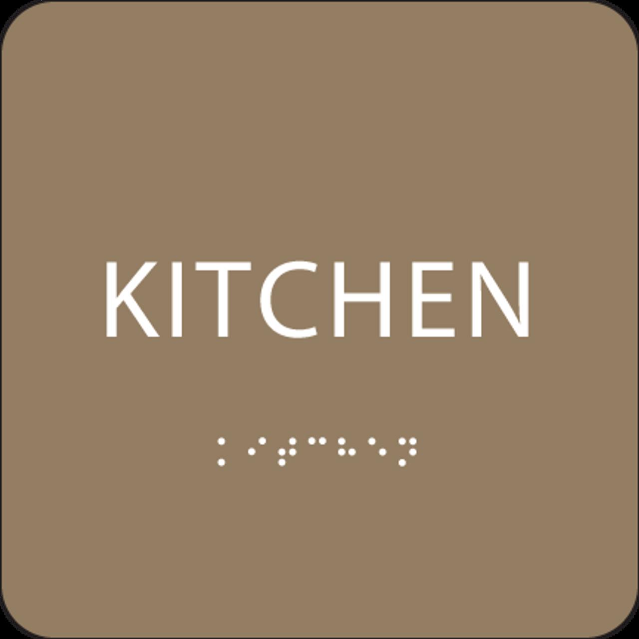 Brown ADA Kitchen Sign