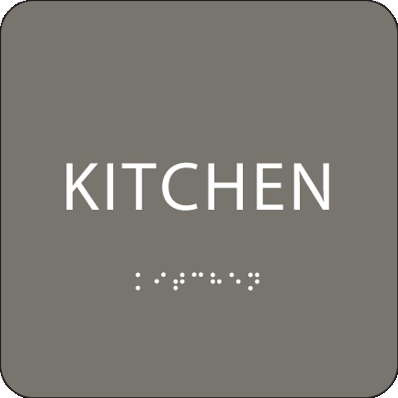 Grey Tactile Kitchen Sign