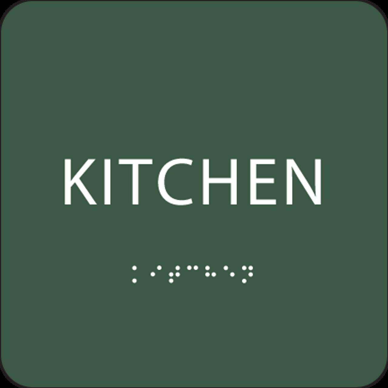 Green ADA Kitchen Sign