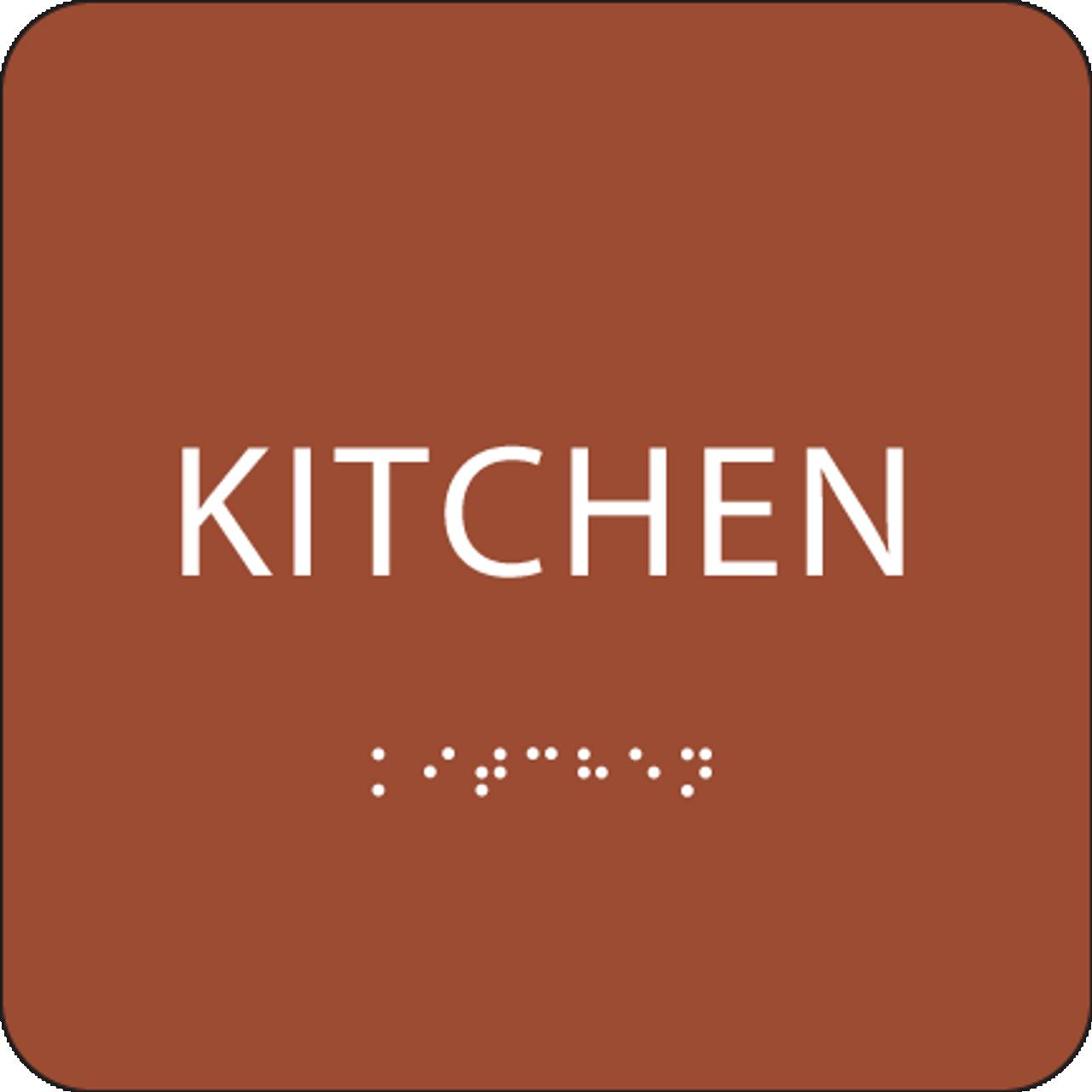 Orange ADA Kitchen Sign