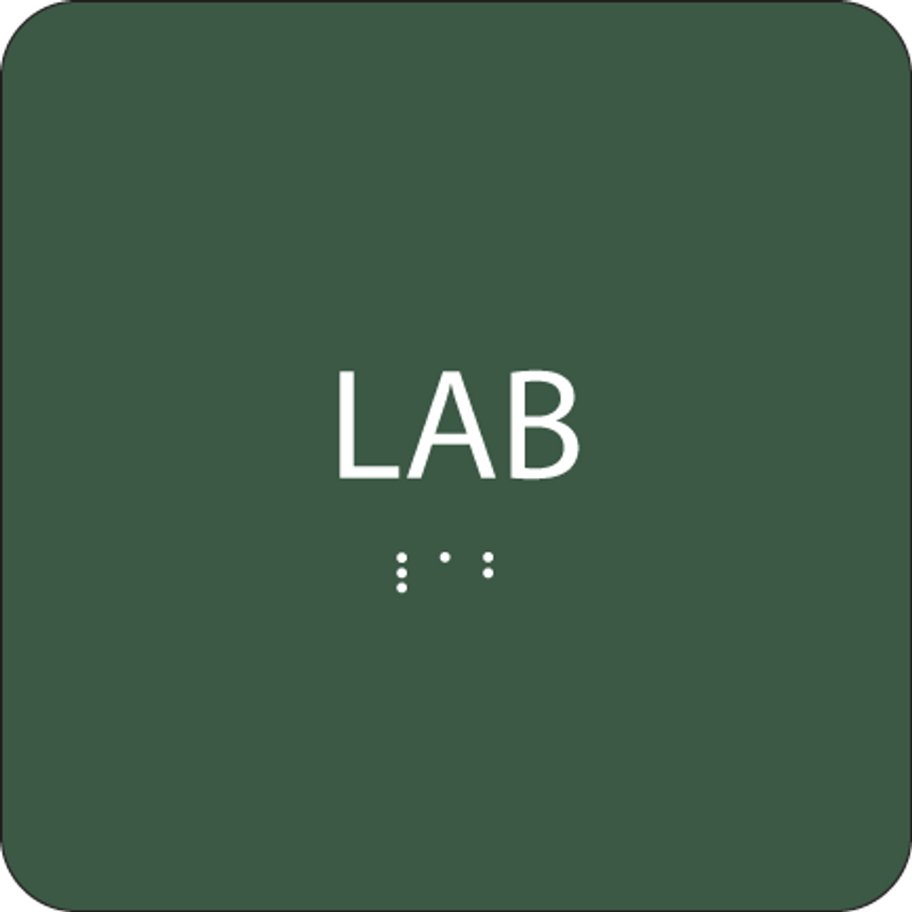 Green Lab Tactile Sign