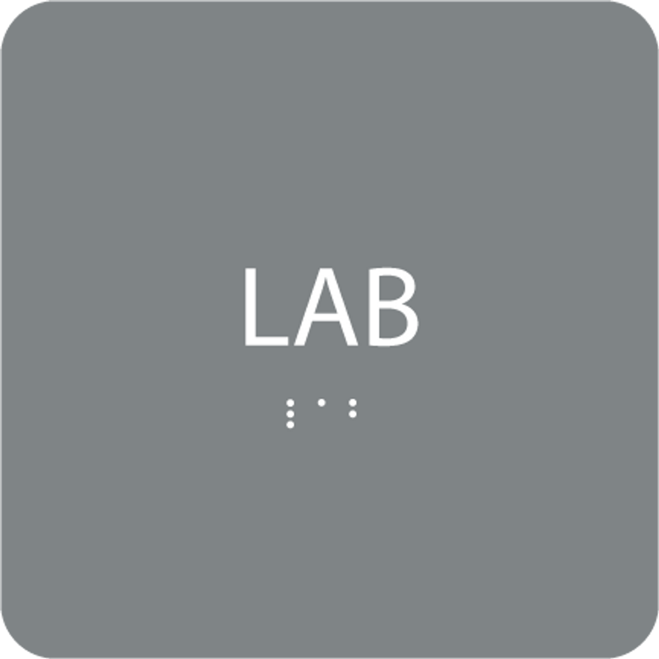 Grey Lab Tactile Sign