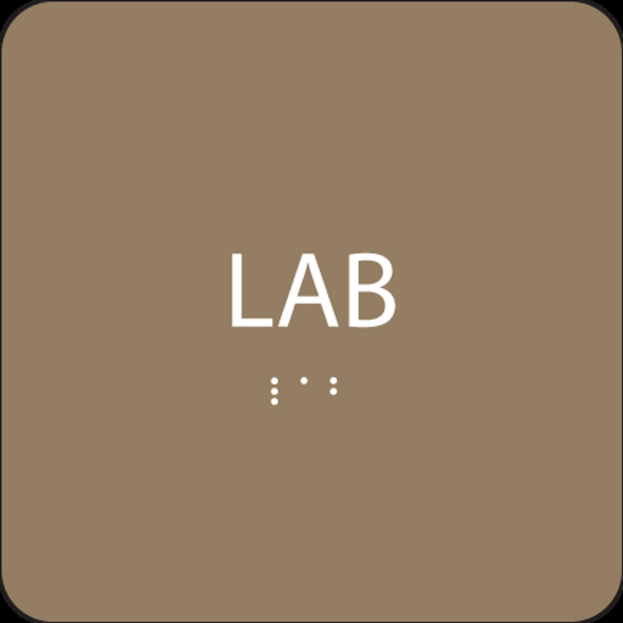 Brown  Lab Braille Sign
