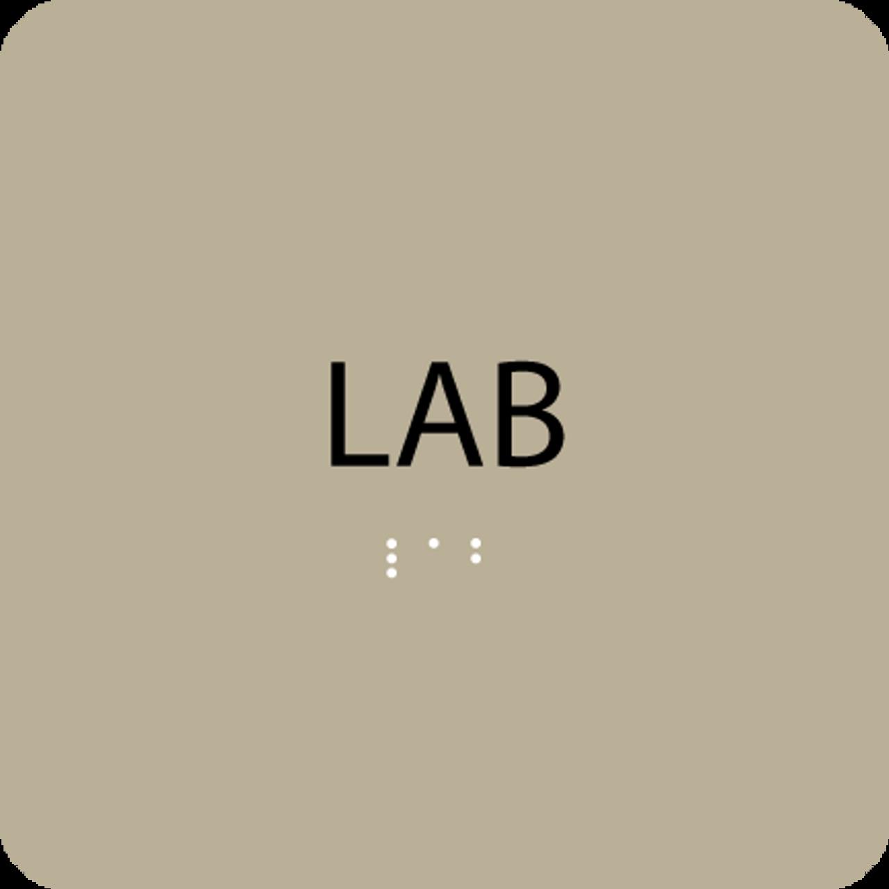 Brown Lab ADA Sign