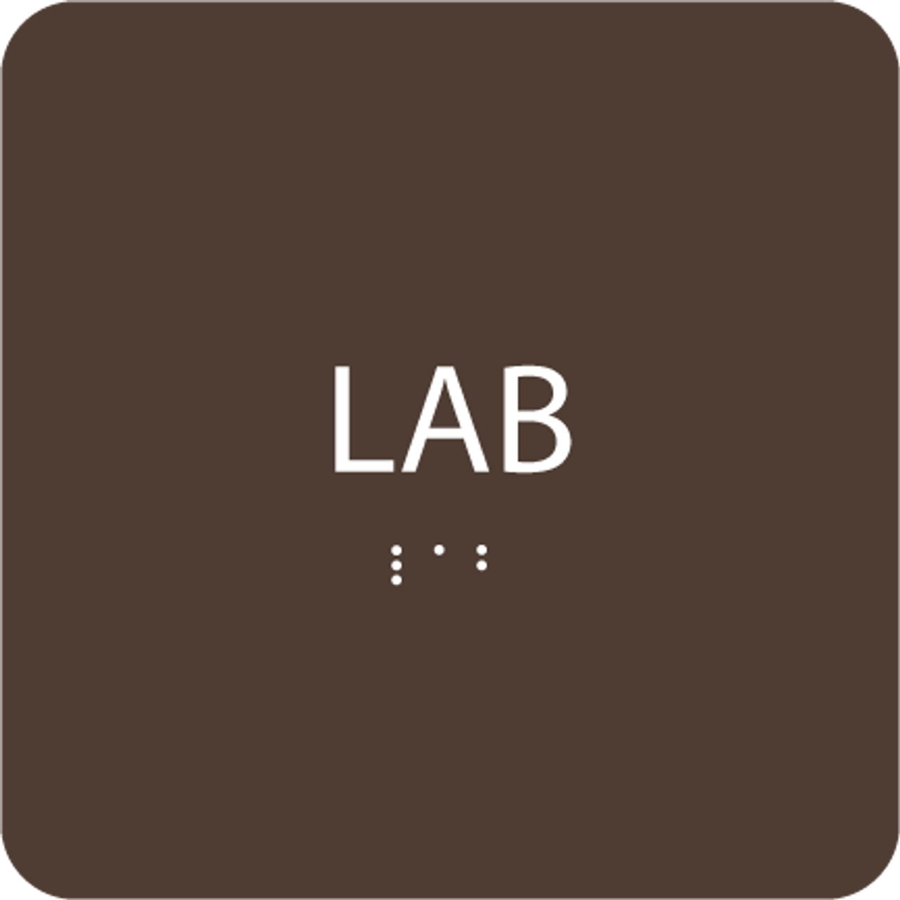 Dark Brown Lab ADA Sign