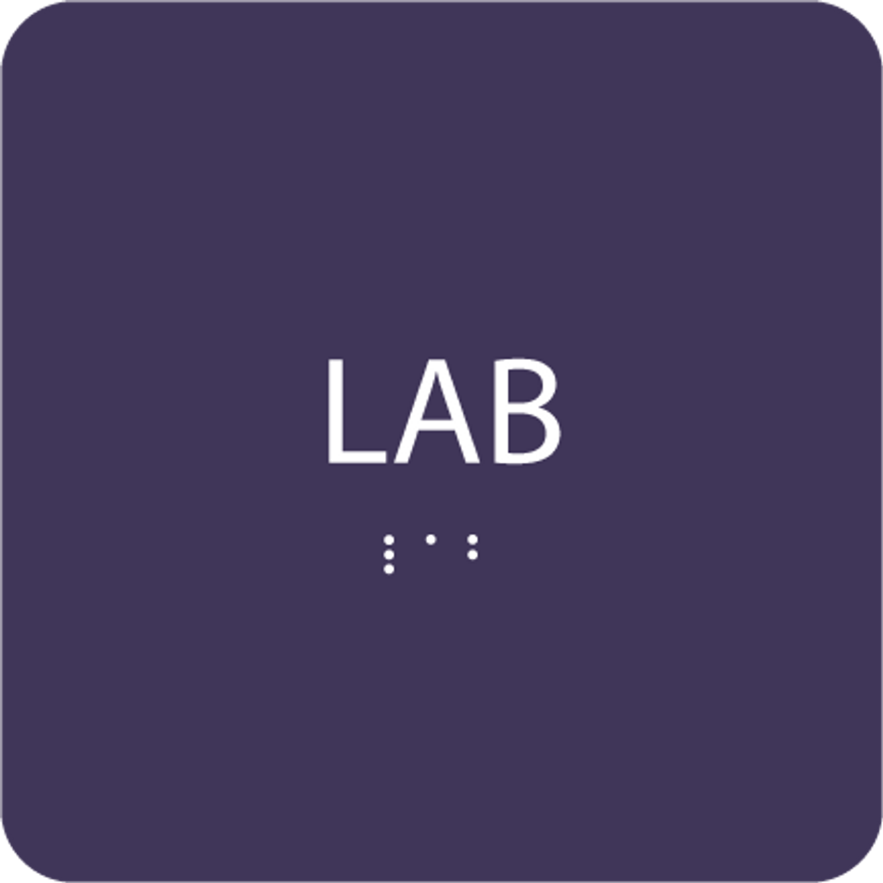Purple Lab ADA Sign