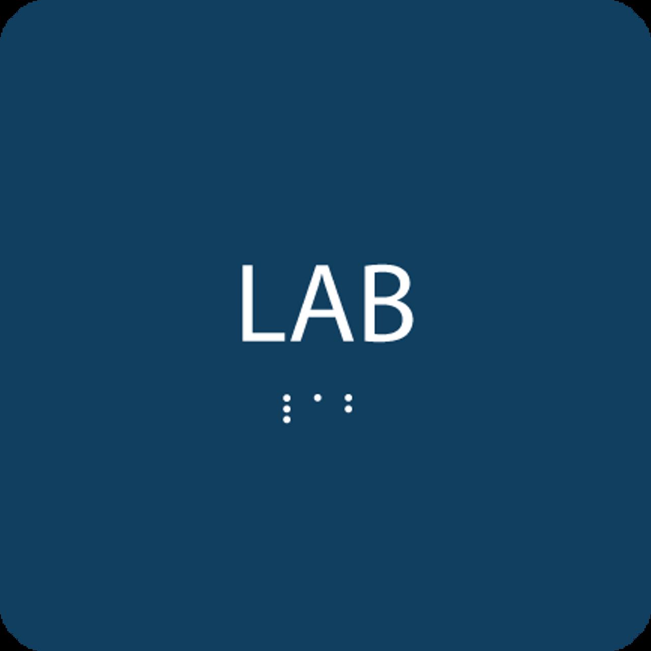 Blue Lab Tactile Sign
