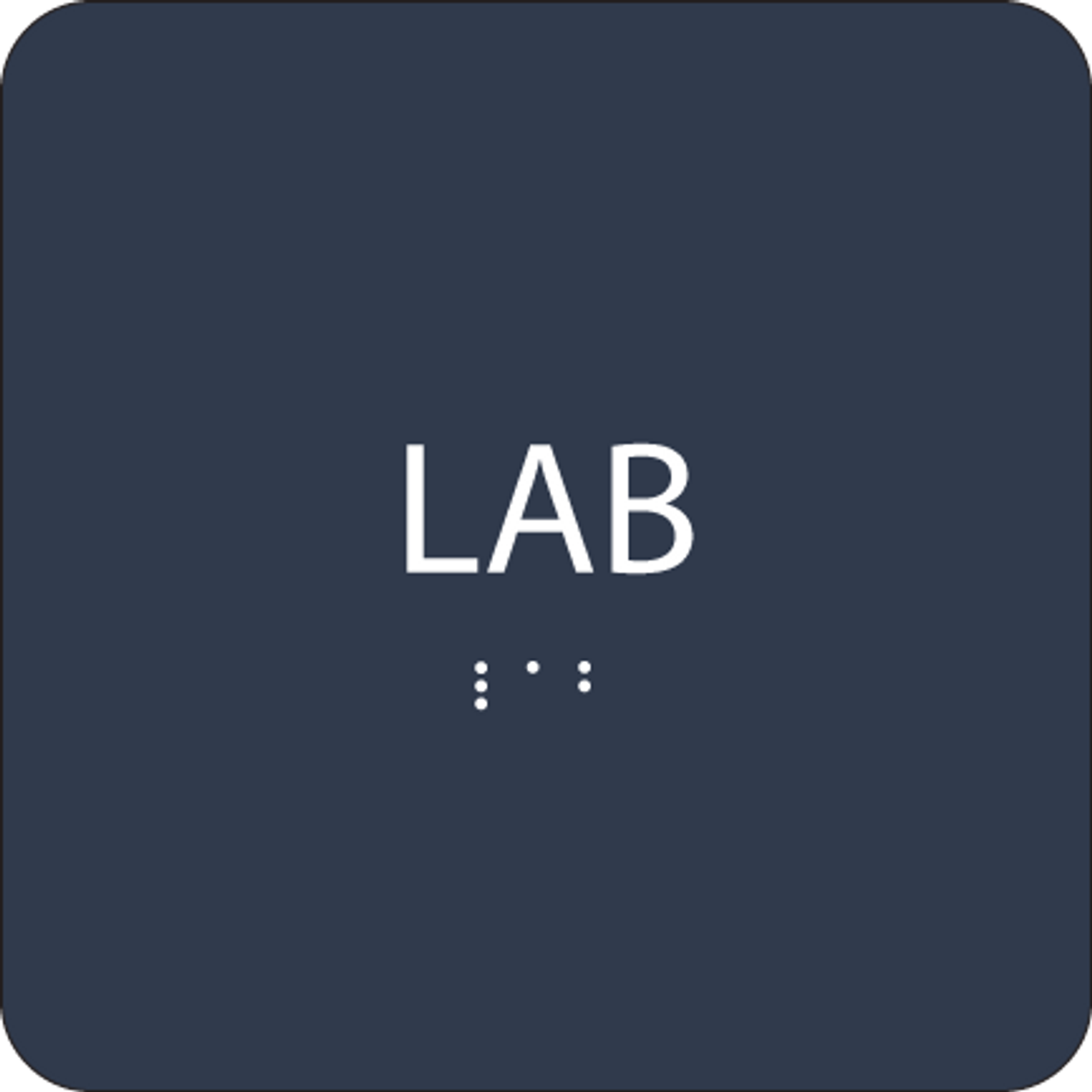 Blue Lab Braille Sign