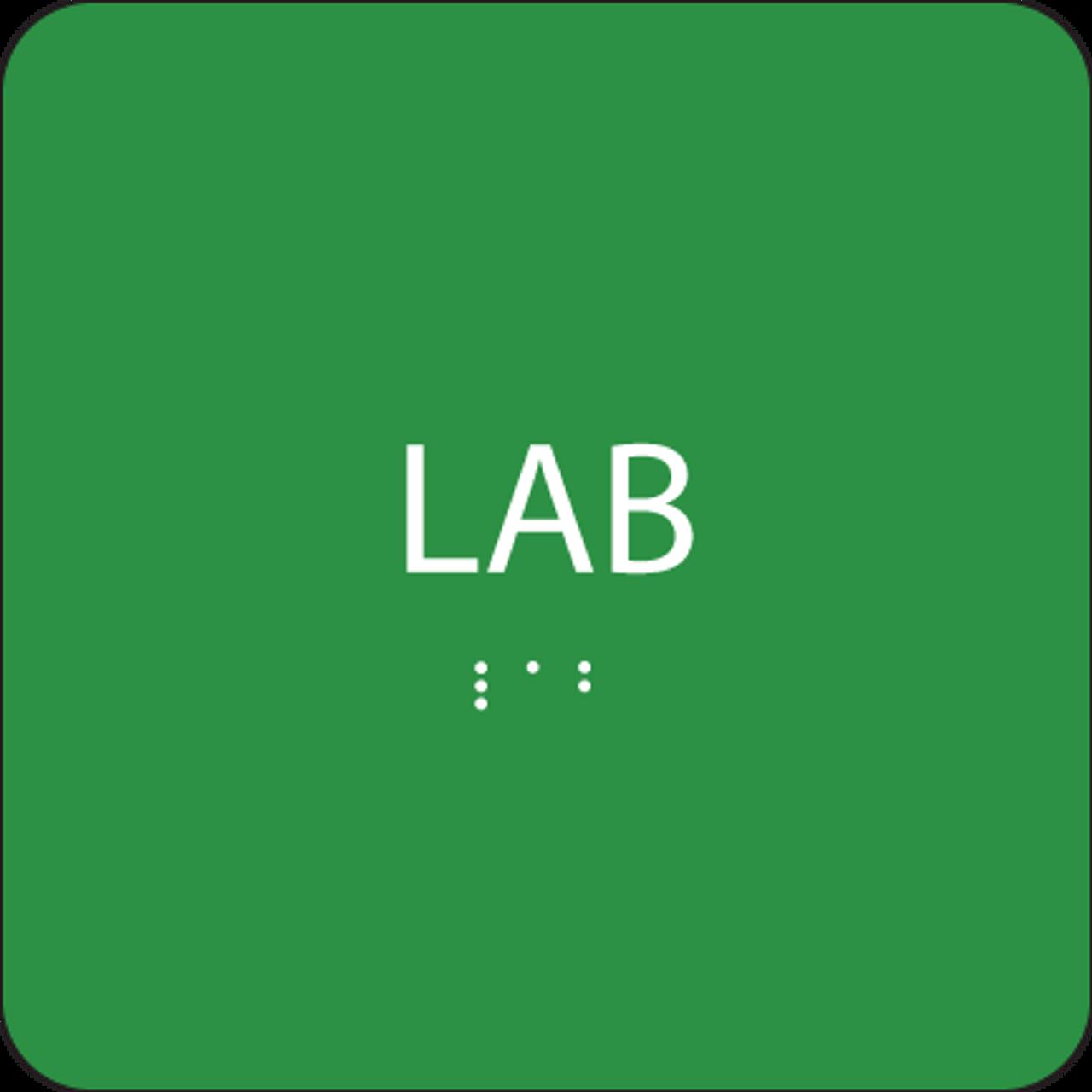 Green Lab ADA Sign