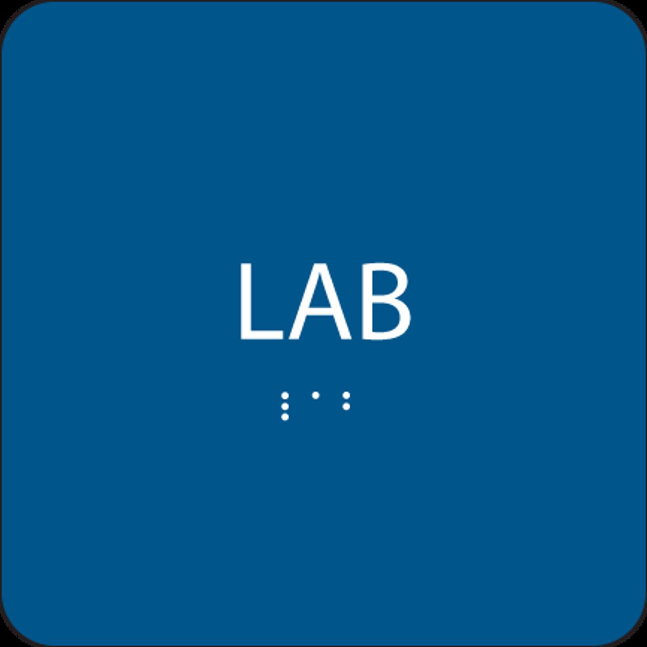 Blue Lab ADA Sign