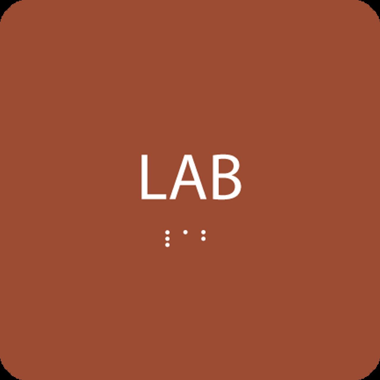 Orange Lab ADA Sign