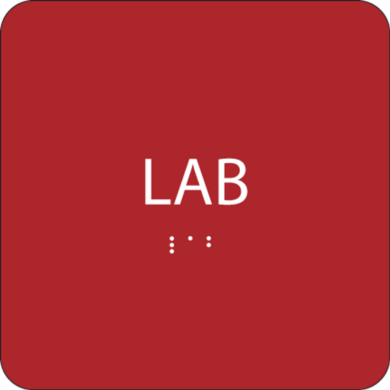 Red Lab ADA Sign