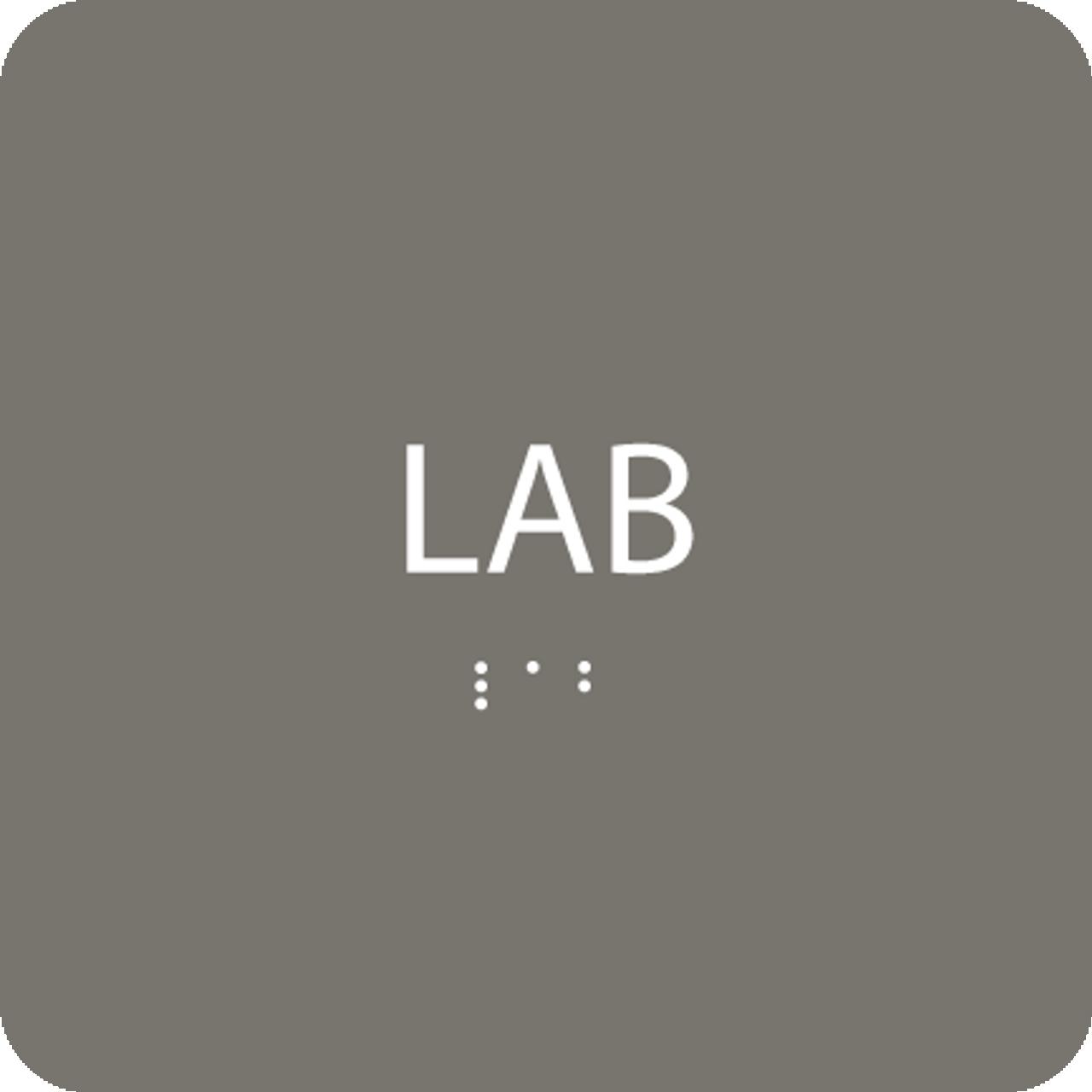 Grey Lab ADA Sign