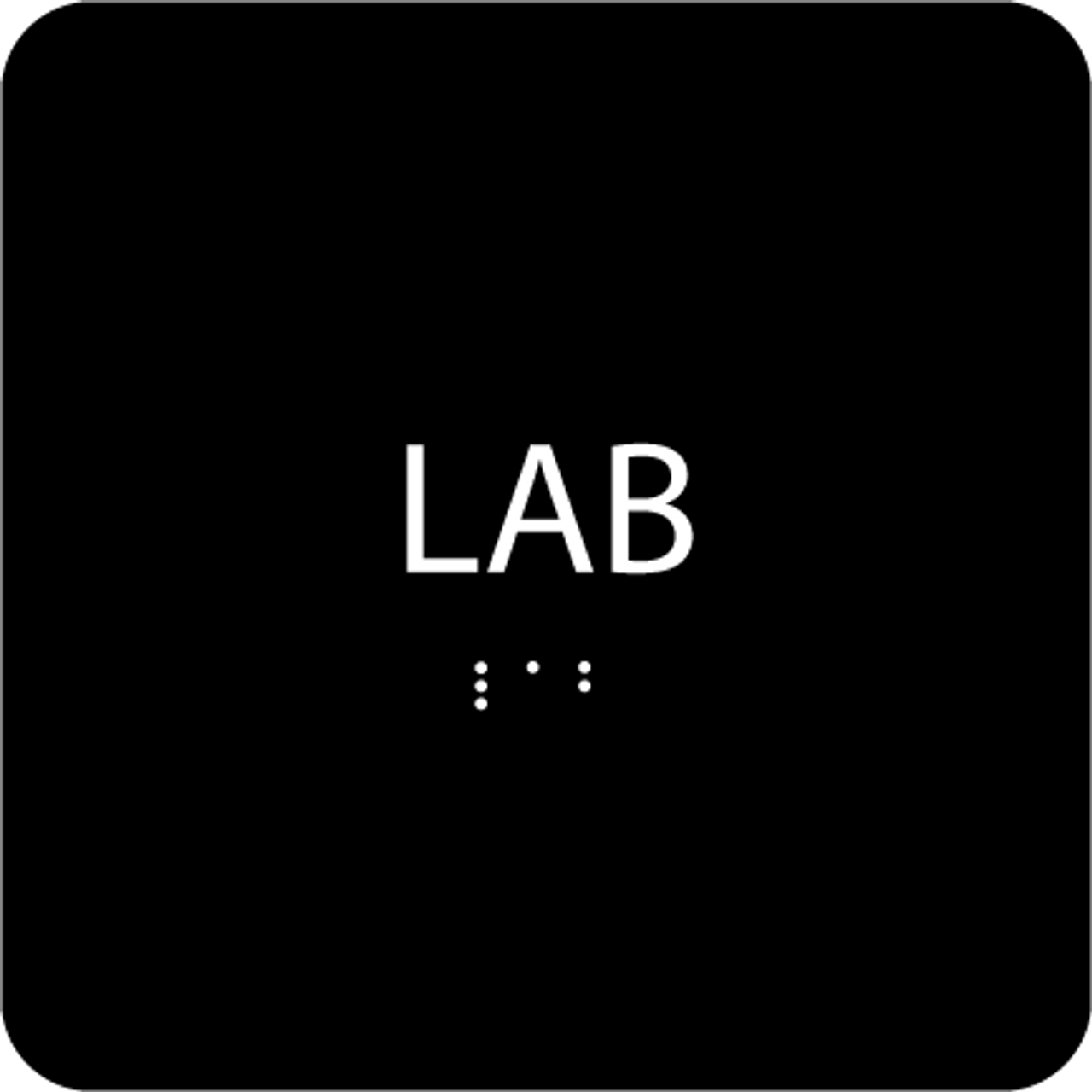 Black Lab ADA Sign