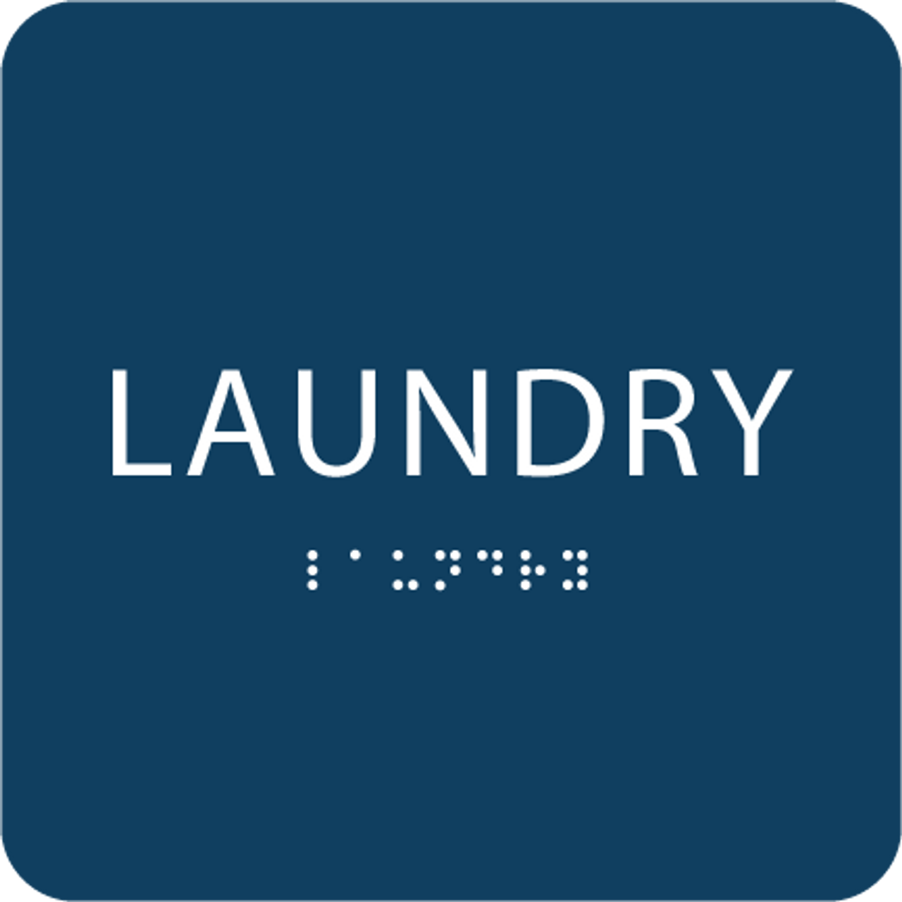 Blue Laundry ADA Sign