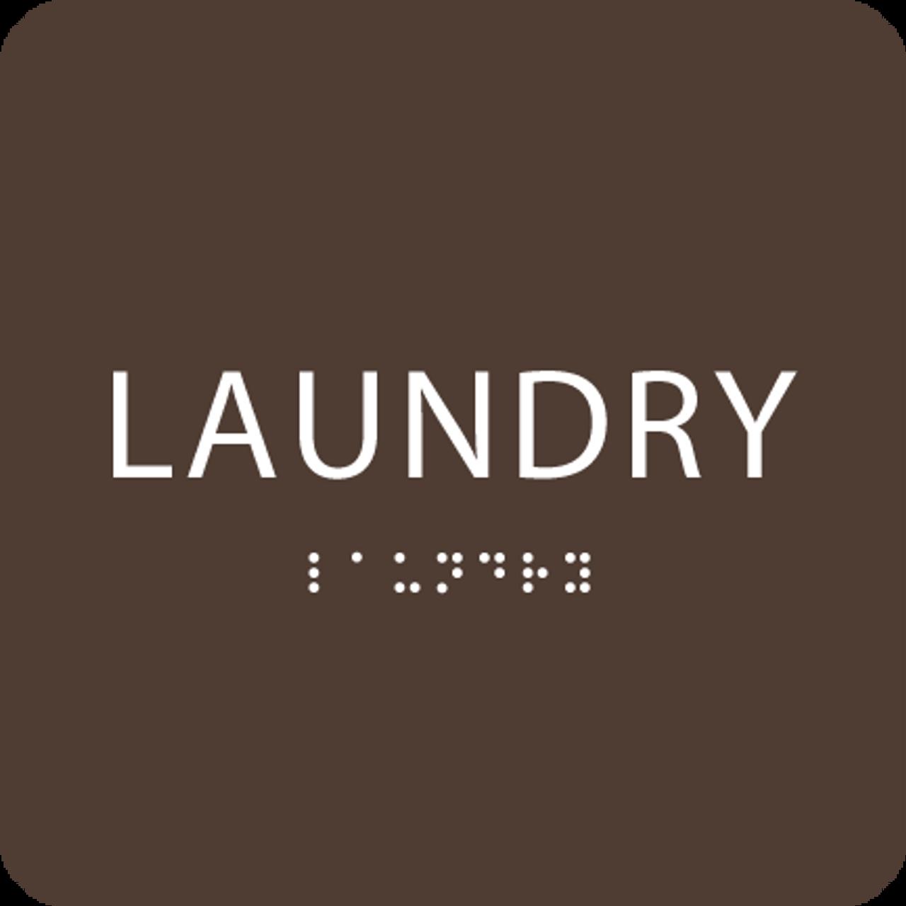 Dark Brown Laundry ADA Sign