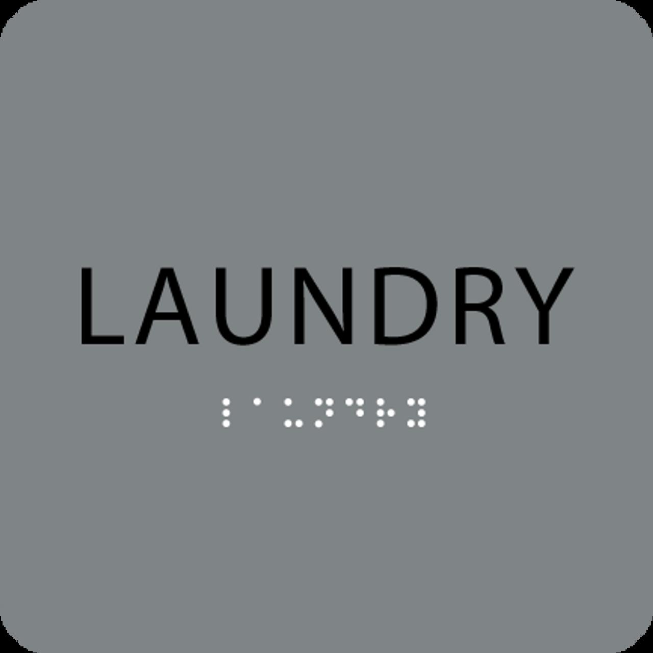 Grey Laundry ADA Sign