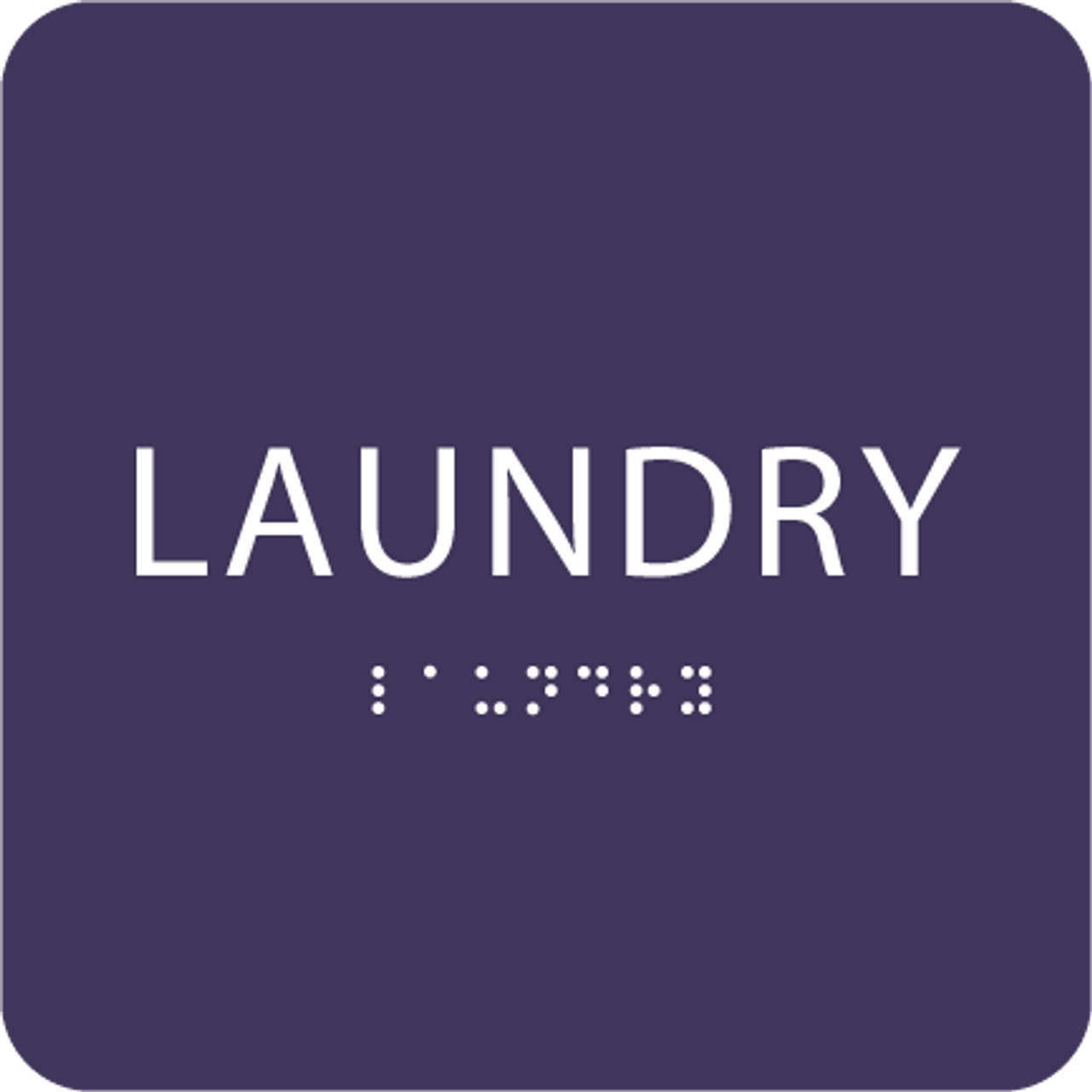 Purple Laundry ADA Sign