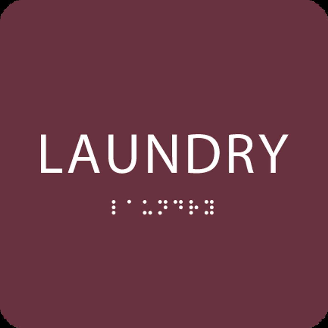 Burgundy Laundry ADA Sign