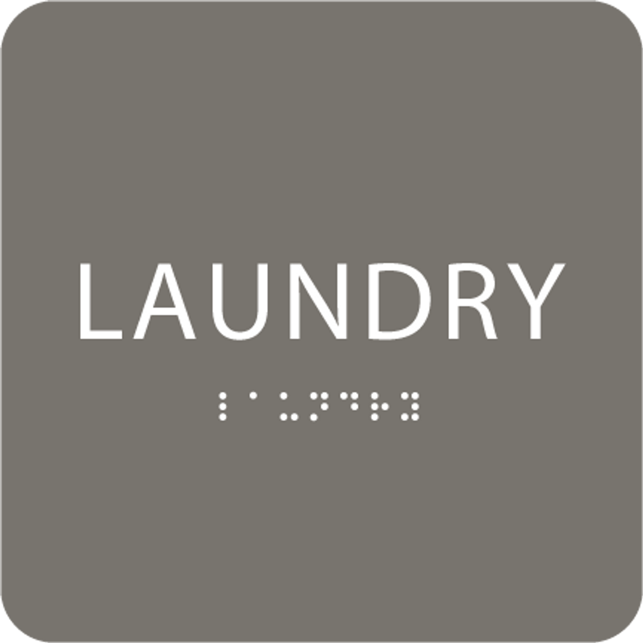 Dark Grey Laundry ADA Sign