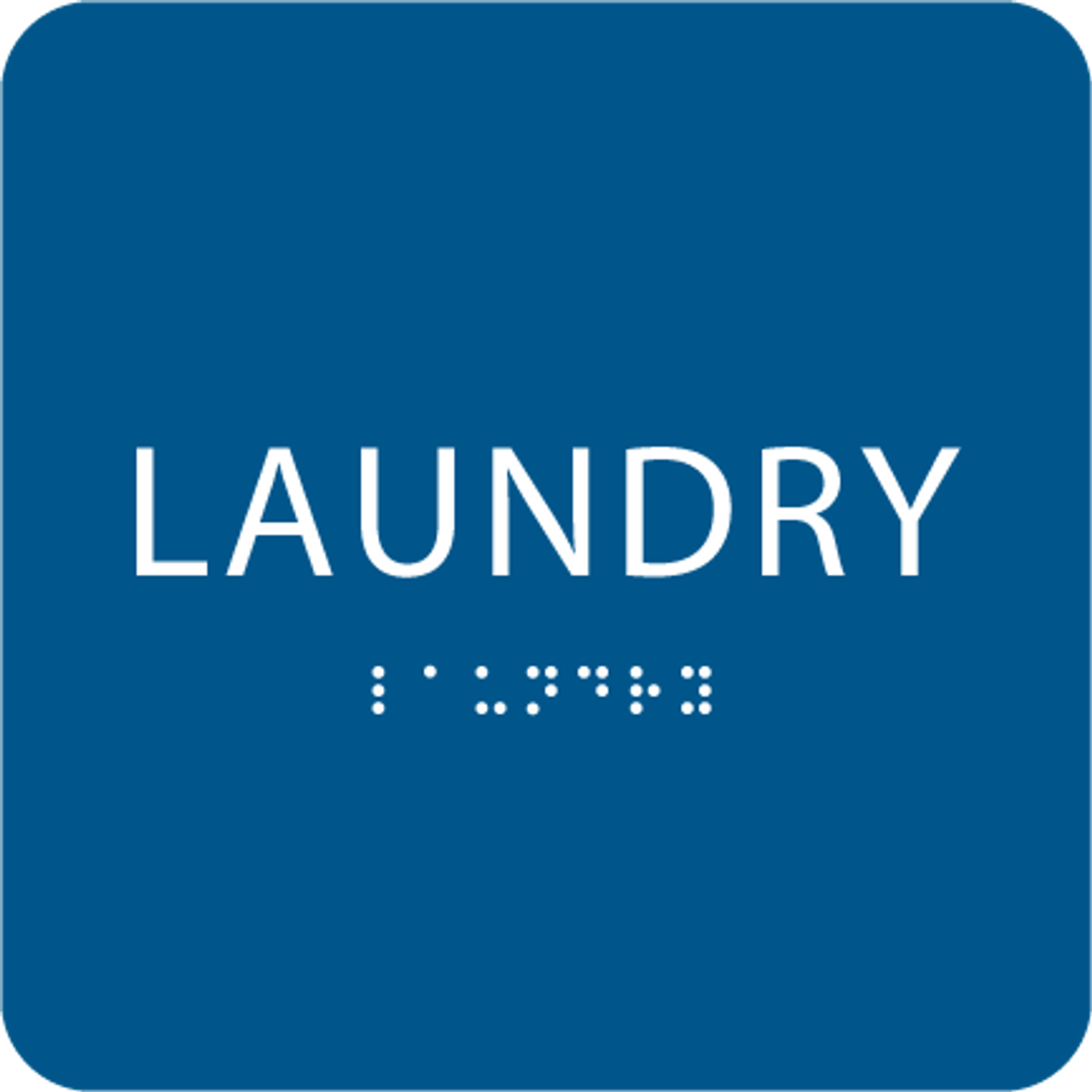 Blue Laundry Braille Sign