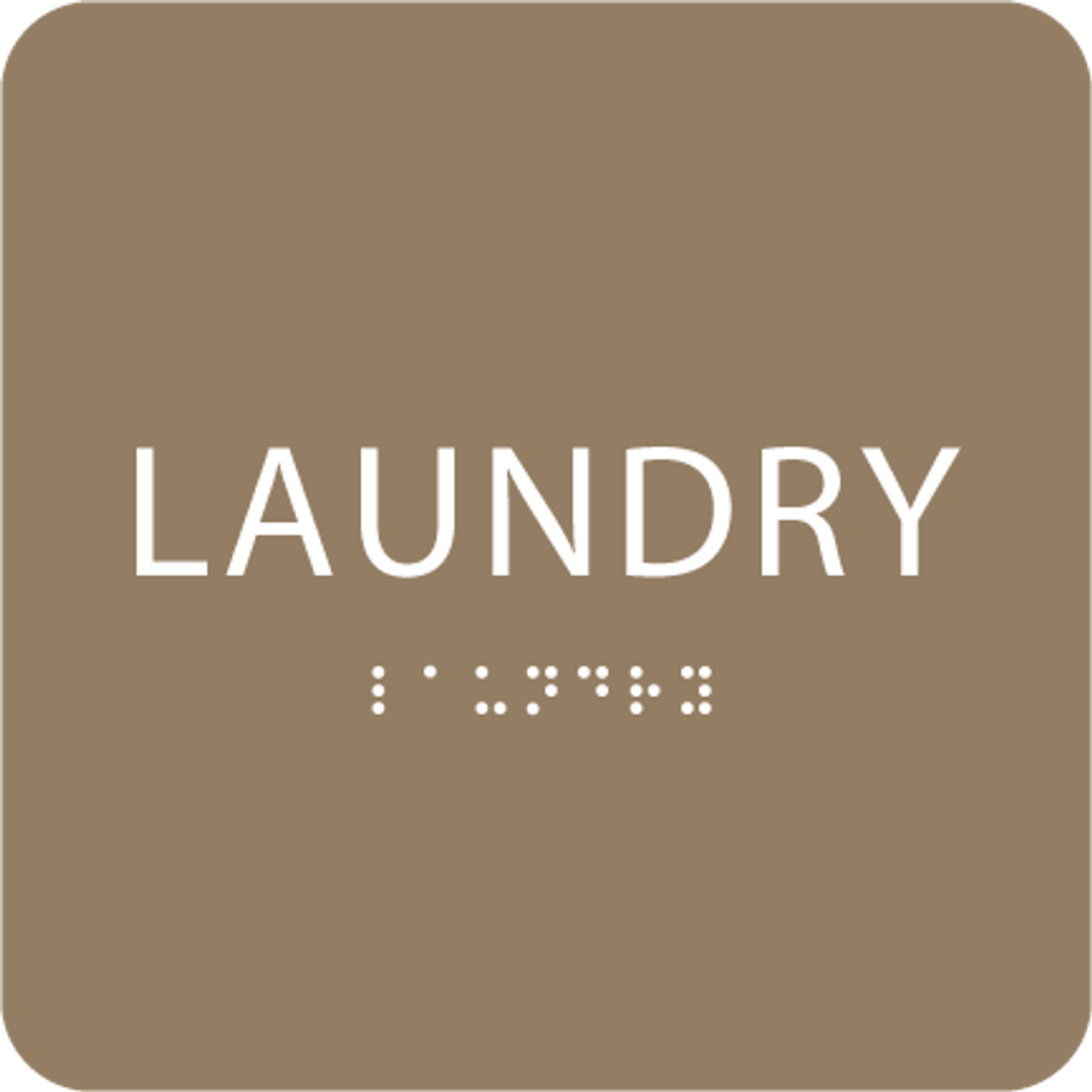 Brown Laundry ADA Sign