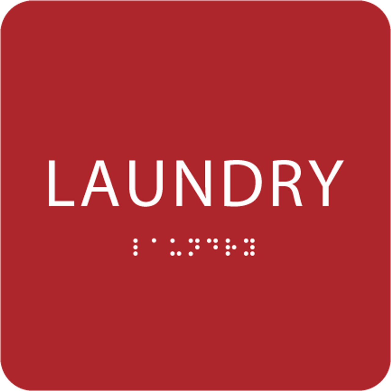 Red Laundry ADA Sign