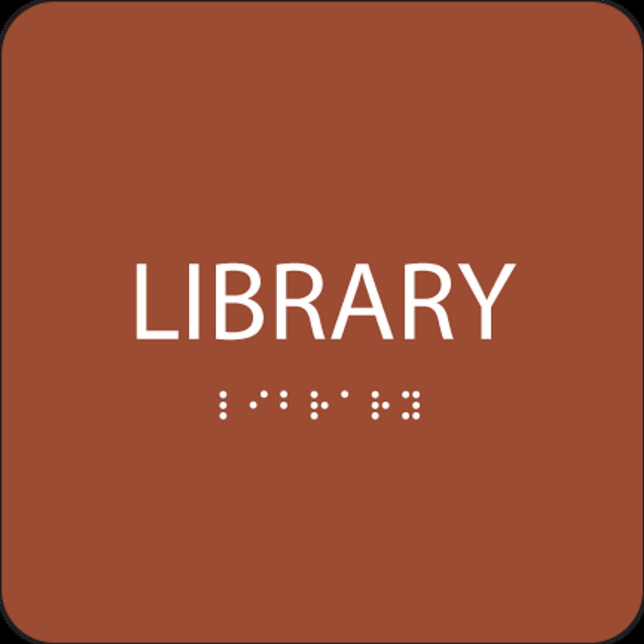 Orange Library ADA Sign