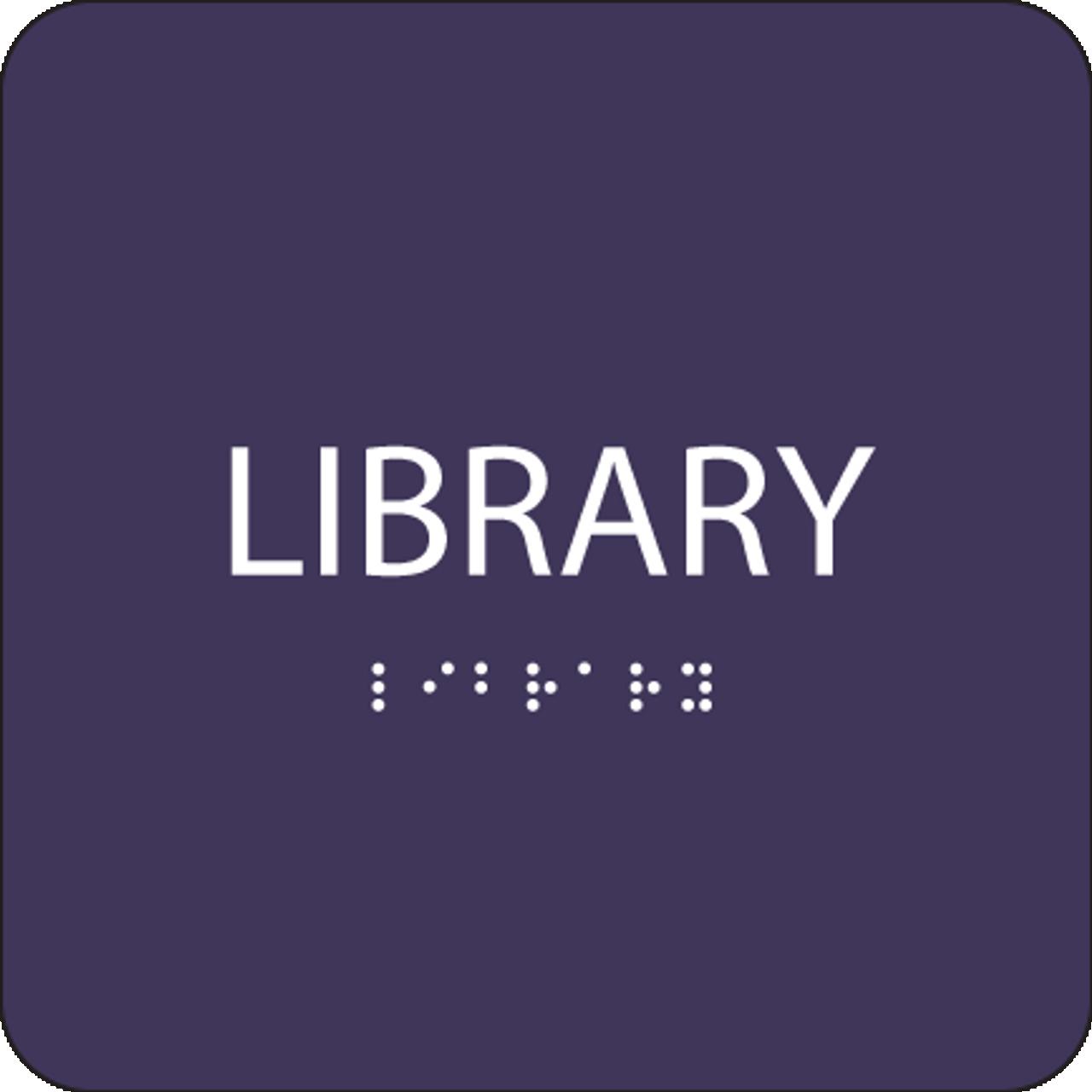 Purple Library ADA Sign