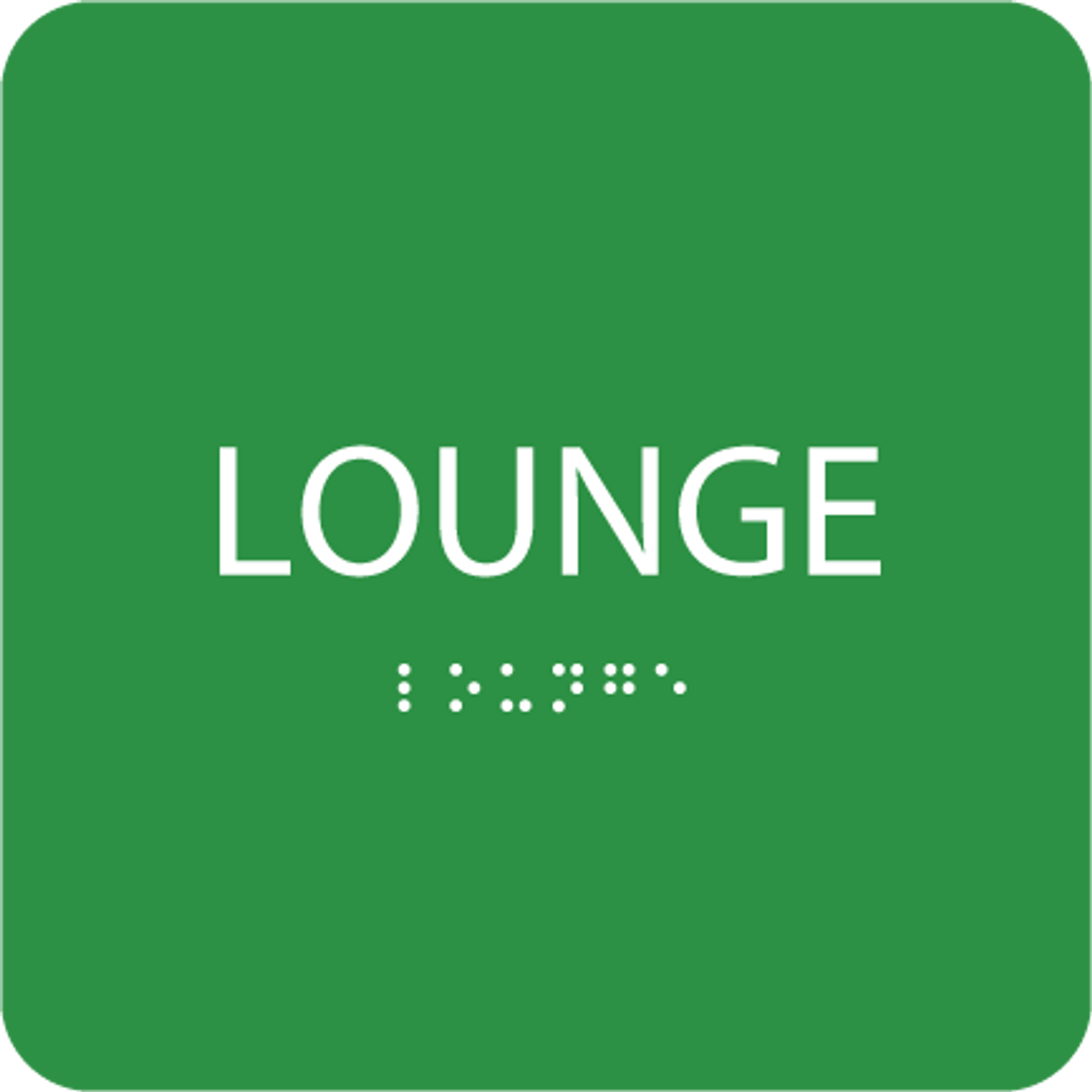 Green Lounge ADA Sign