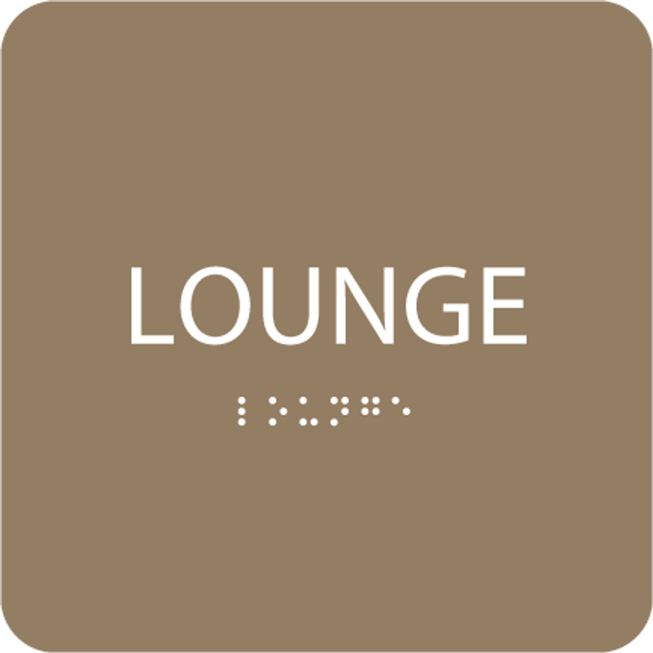 Brown Lounge ADA Sign