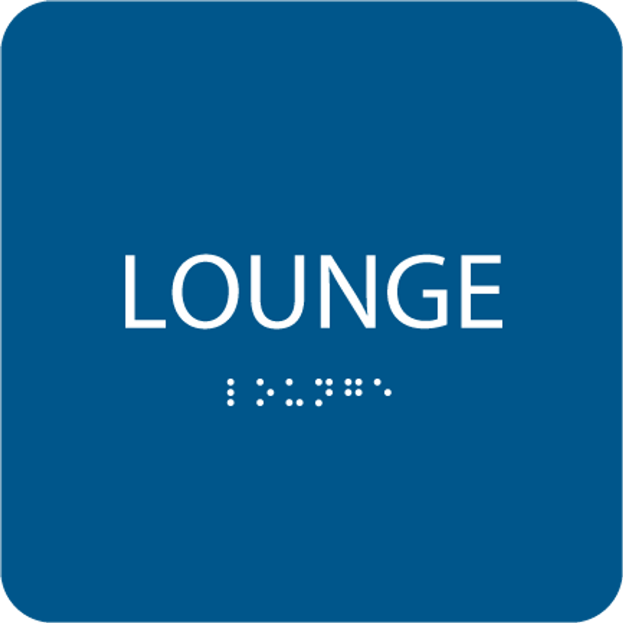 Blue Lounge ADA Sign