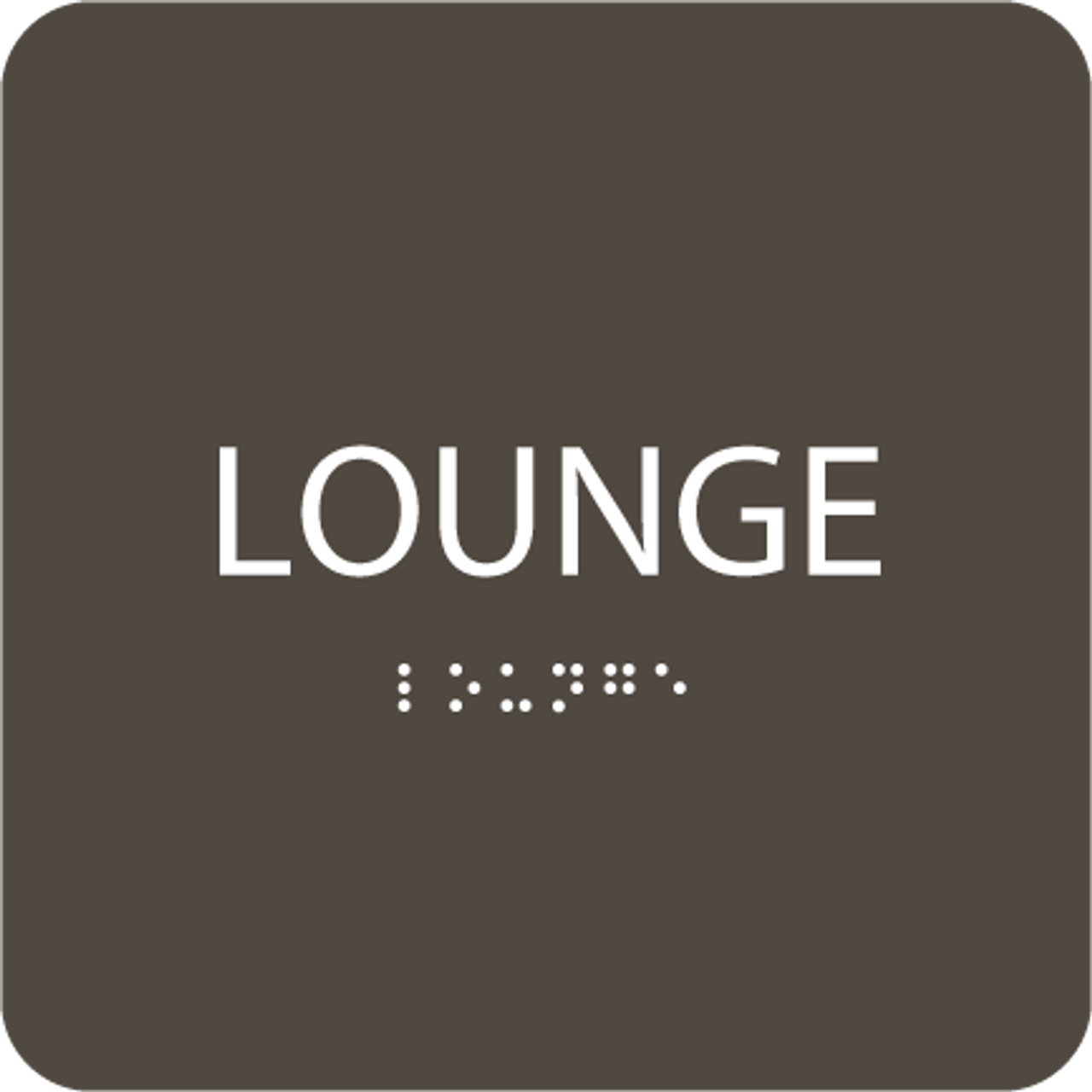 "Lounge ADA Sign - 6"" x 6"""