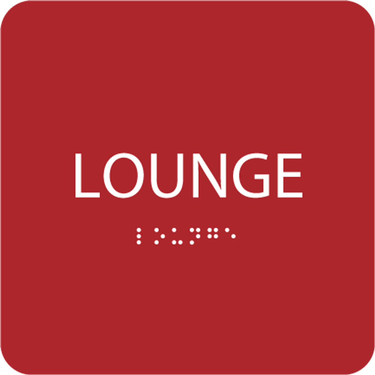 Red Lounge ADA Sign