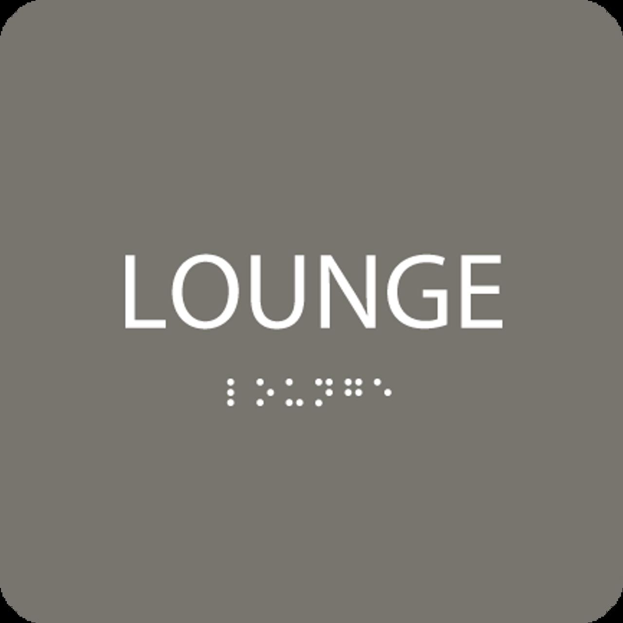 Dark Grey Lounge Tactile Sign