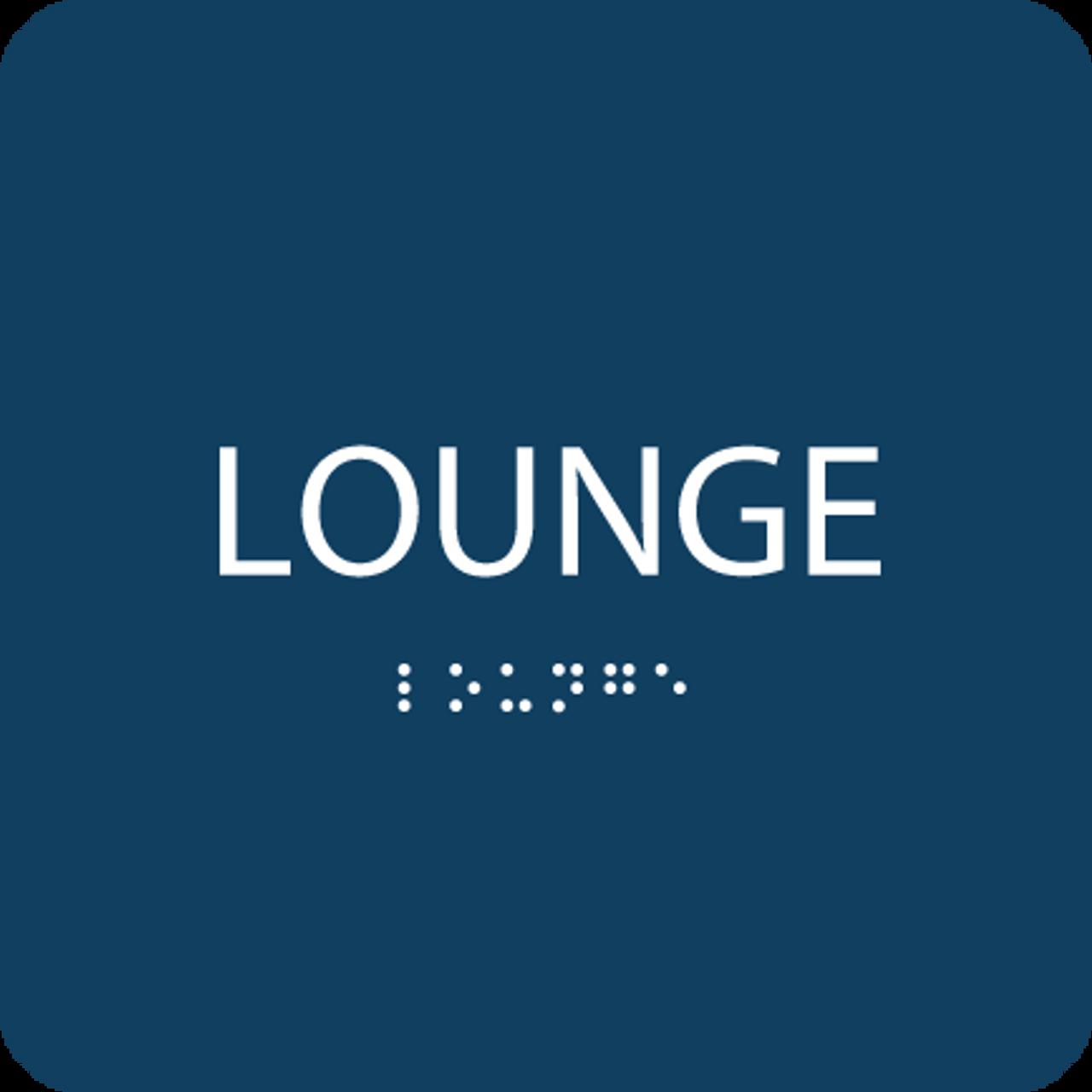 Blue Lounge Tactile Sign