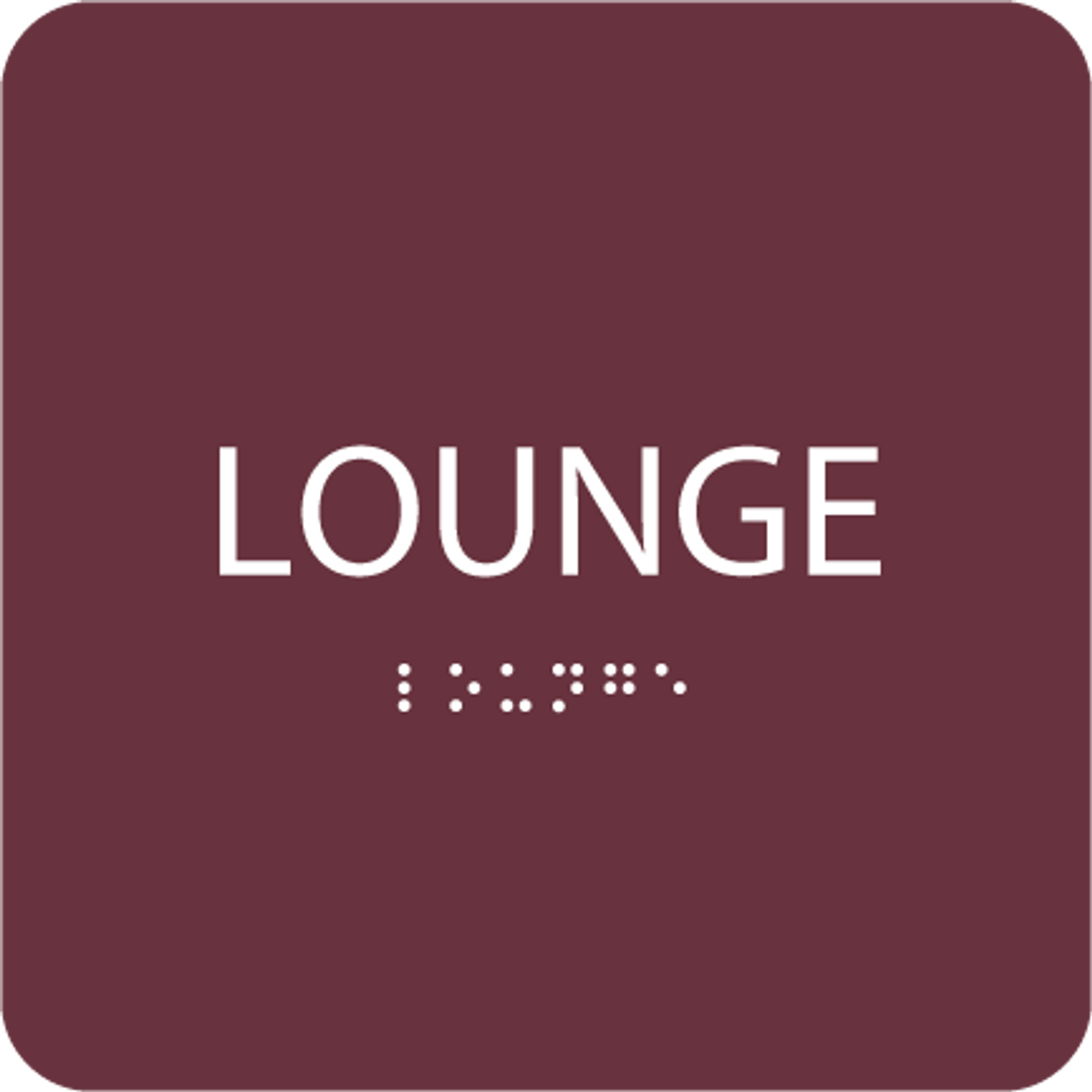 Burgundy Lounge ADA Sign